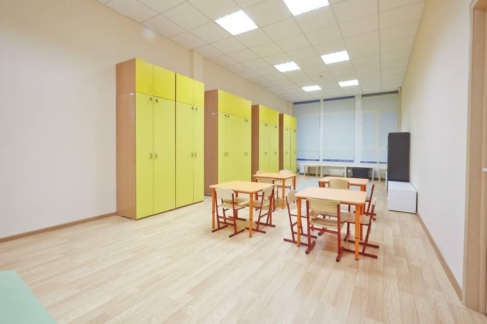Частный детский сад, интерьер, учебная зона